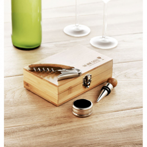 Sonoma 3Pcs Wine Set In Bamboo Box