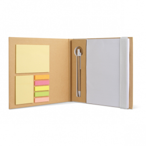 Quincy Notebook With Stickynotes & Pen
