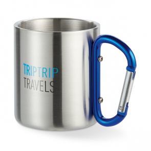 Trumbo Metal Mug With Carabiner Handle