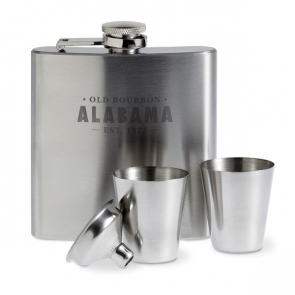 Annaska Slim Hip Flask With 2 Cups Set