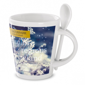 Sublimkonik Mug With Spoon (With Sublimation Layer)