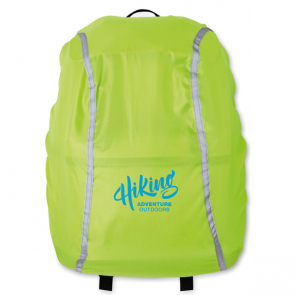 Reflects Foldable Backpack Cover With Pouch 210D Water Proof (Pms374C In Neon Green)