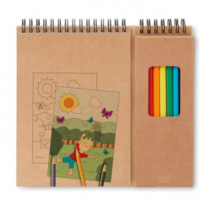 Colopad 8 Color Pencils With 24 Pages Drawing Book