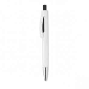 Lucerne White Plastic Pen With Shiny Tip