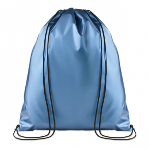 New York Drawstring Bag With Shiny Coating