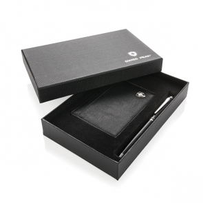 Swiss Peak Rfid Card Holder And Pen Giftset