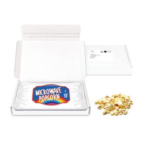 Postal Packs – Midi Postal Box - Microwave Popcorn - PAPER LABEL