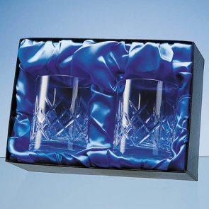 Whisky Tumbler Pair Satin Lined Presentation Box