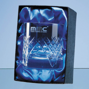 Single Whisky Tumbler Satin Lined Presentation Box