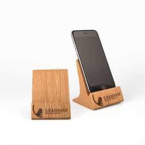 Upright Real Wood Phone Stand