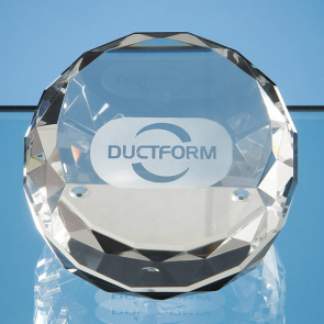 Optical Crystal Sliced Wedge Paperweight