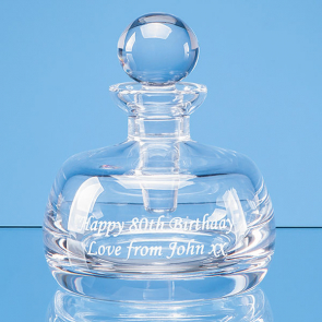 Lead Crystal Perfume Bottle & Stopper