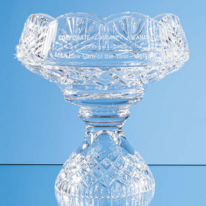 Lead Crystal Scalloped Footed Bowl