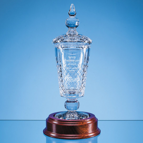 Lead Crystal Lidded Presentation Chalice