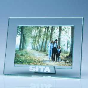"Jade Glass Photo Frame for 4"" x 6"" Photo, H"