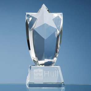 Optical Crystal Mounted Starburst Award