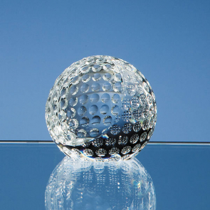 Optical Crystal Golf Ball Paperweight