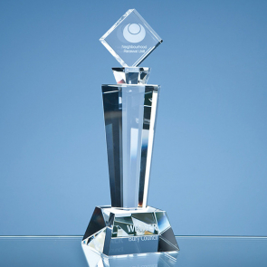 Optical Crystal Mounted Square Award