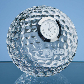 Optical Crystal Golf Ball with Clock