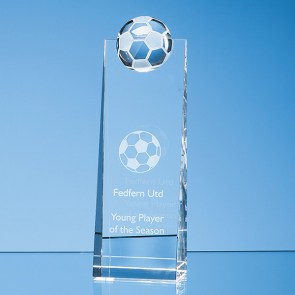 Modern Optical Crystal Football Rectangle Award