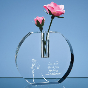 Optical Crystal Round Bud Vase