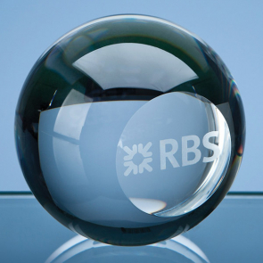 Optical Crystal Ball with Flat Front