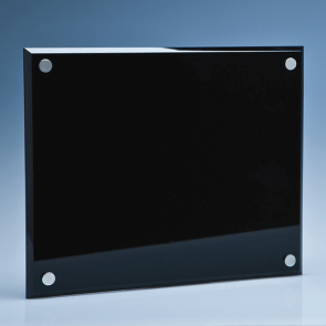 Onyx Black Wall Display Plaque inc Fixing Kit