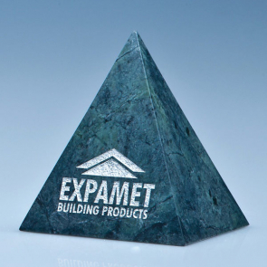 Green Marble 4 Sided Pyramid Award