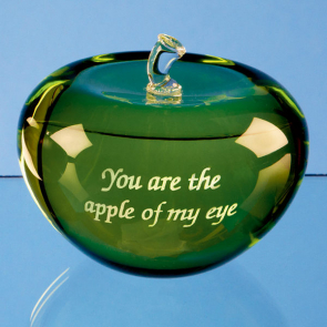 Optical Crystal Green Apple