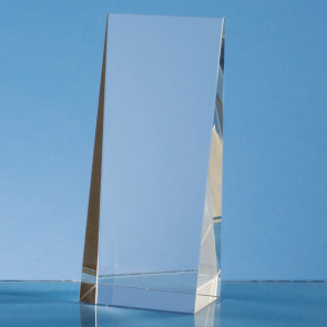 Optical Crystal Wedge Rectangle Award