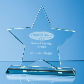 Mounted Jade Glass Star Award