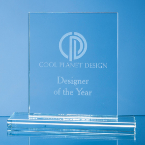 Clear Glass Rectangle Award