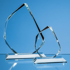 Clear Glass Facetted Ice Peak Award