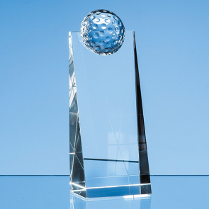 Optical Crystal Golf Ball Rectangle Award