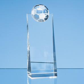 Optical Crystal Football Rectangle Award