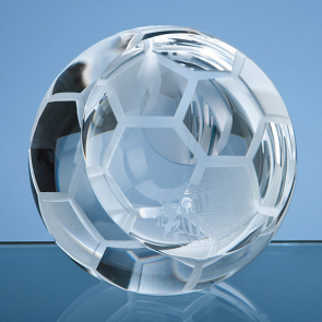 Optical Crystal Football Paperweight