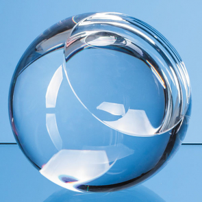 Optical Crystal Sliced Ball with a Flat Front