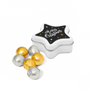 Winter Collection 2020 – Star Tin - Foiled Chocolate Balls