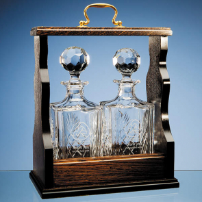 Square Spirit Decanter Double Tantalus