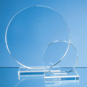 Clear Glass Circle Award