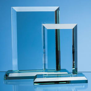 Jade Glass Mitred Rectangle Award