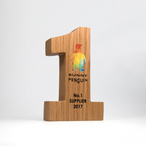 Bespoke Real Wood Block Award