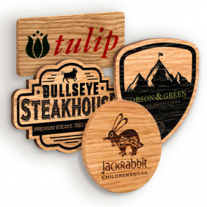 Wood Promotional Badges