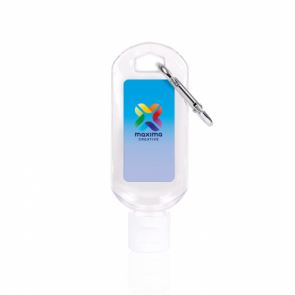 Hand Sanitiser Gel 50ml with Carabiner Clip