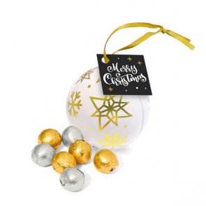 Winter Collection 2020 – Bauble Tin - Foiled Chocolate Balls