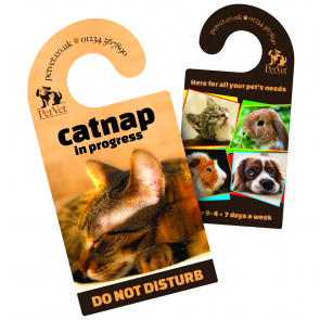 Door Hanger - 380gsm Laminated Card