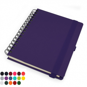 Belluno PU Colours Deluxe A5 Wiro Notebook with soft touch & Pen Loop