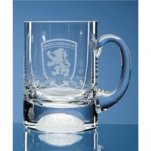 Beer Tankard Capacity 420ml clear Complete With Football Bottom (1/2pt)