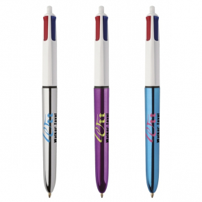 BIC® 4 Colours Shine Ballpen