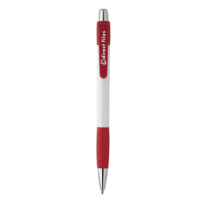 White Striped Grip pen